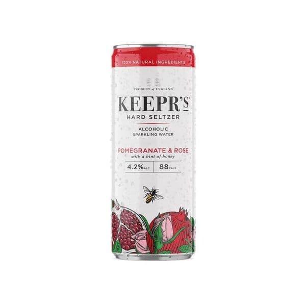 Keepr's Hard Seltzer Pomegranate & Rose 250ml
