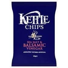 Kettle Chips Sea Salt & Balsamic Vinegar Case