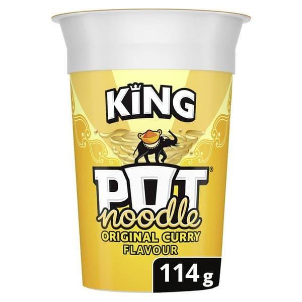 King Pot Noodle Original Curry 114g