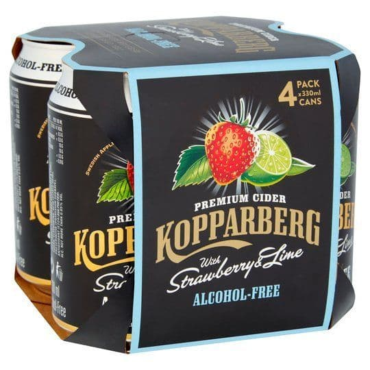 Kopparberg Strawberry & Lime Alcohol Free 4x330ml