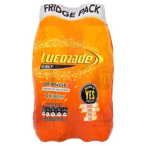 Lucozade Energy Orange Fridge Pack 4x380ml