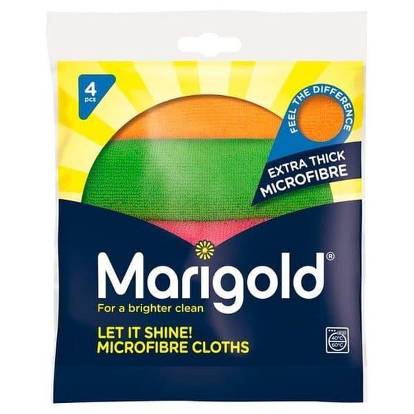 Marigold Let it Shine Microfibre Cloth 4pk