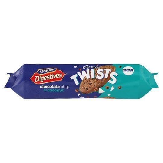 McVities Digestive Twists Choc Chip & Coconut 276g