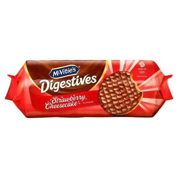 McVities Digestives Strawberry Cheesecake 243g