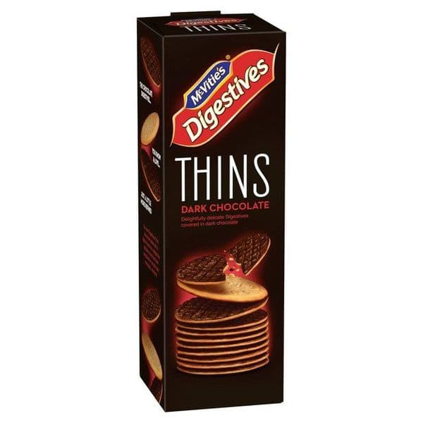 McVities Digestives Thins Dark Chocolate 180g