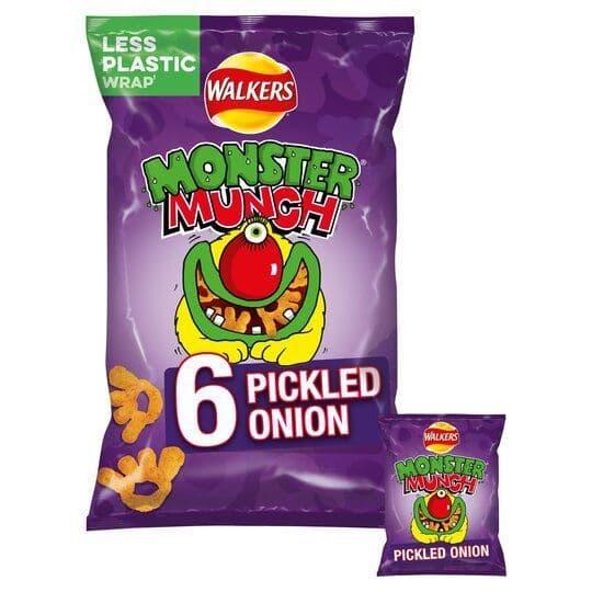Monster Munch Pickled Onion 6x22g