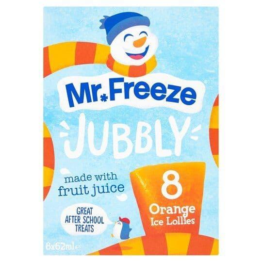 Mr Freeze Jubbly Orange 8x62ml