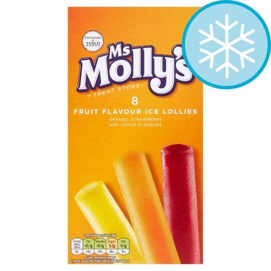 Ms Mollys Assorted Fruit Lollies 8x35ml
