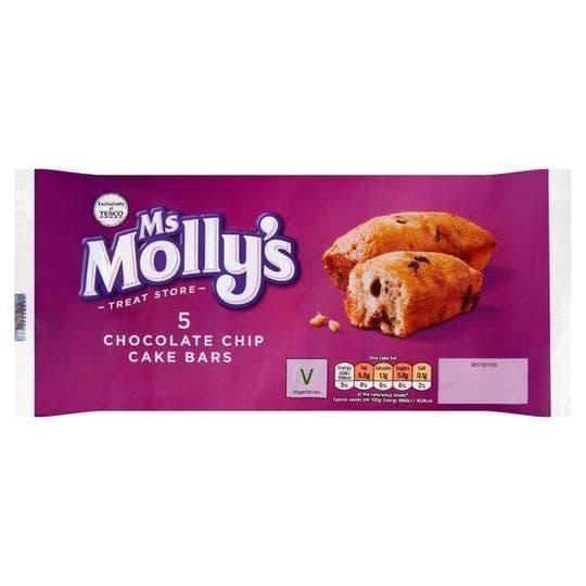 Ms Mollys Choc Chip Cake Bars 5pk