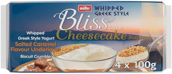 Muller Corner Bliss Salted Caramel Cheesecake 4x100g