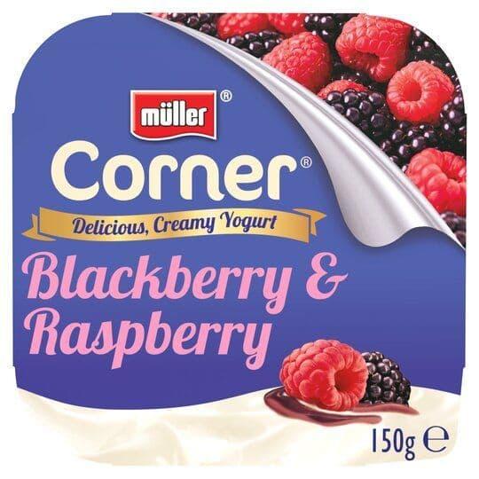 Muller Corner Fruit  Blackberry & Raspberry 143g