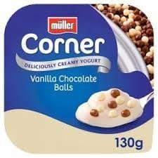 Muller Crunch Corner Vanilla Choco Balls 130g