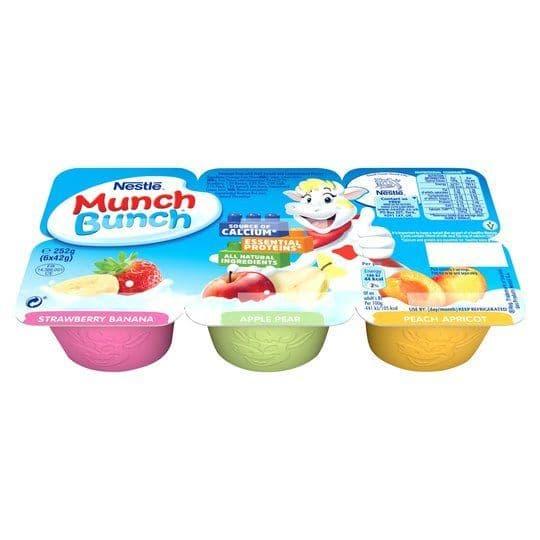 Munch Bunch Fromage Frais 6x42g