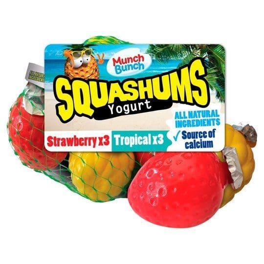 Munch Bunch Squashums Strawberry & Tropical 6x60g
