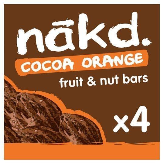 Nakd Cocoa Orange Bars 4 Pack