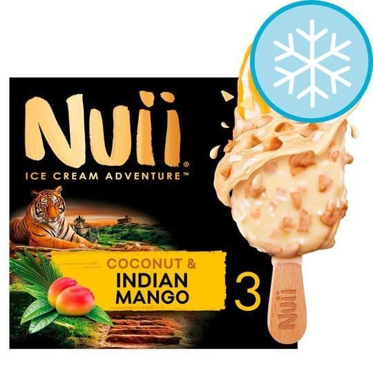 Nuii Coconut & Indian Mango Ice Cream 3x90ml