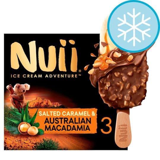 Nuii Salted Caramel & Australian Macadamia 3x90ml