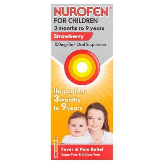 Nurofen Childrens Strawberry Syrup 100ml