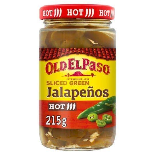 Old El Paso Sliced Jalapeños 215g