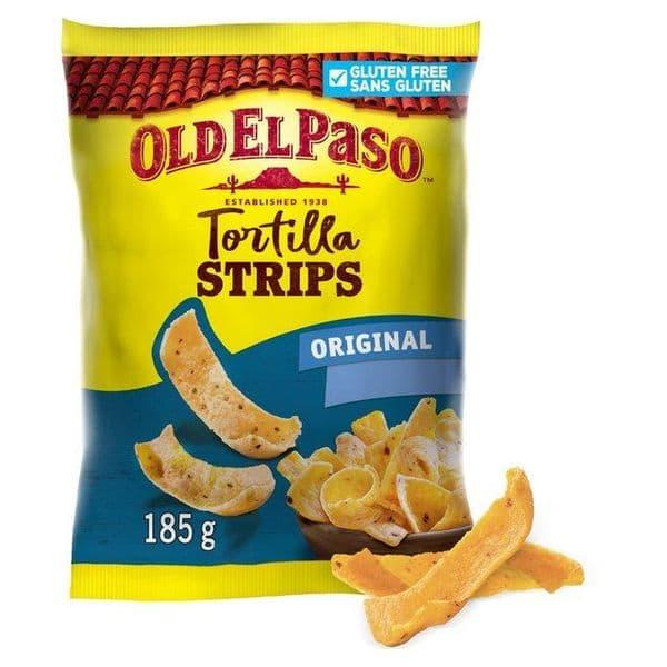 Old El Paso Tortilla Strips Original 185g
