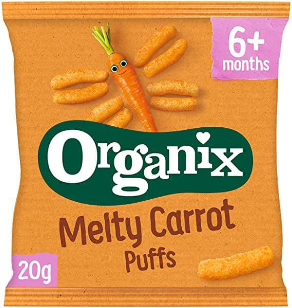 Organix Melty Carrot Puffs 20g