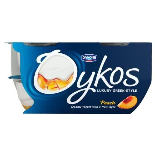 Oykos Peach Yoghurt 4x100g