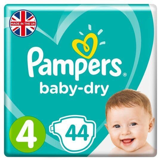 Pampers Baby Dry Nappies Essential Pack S4 (44)