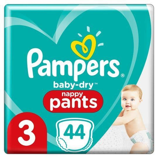 Pampers Nappy Pants Size 3 (44)