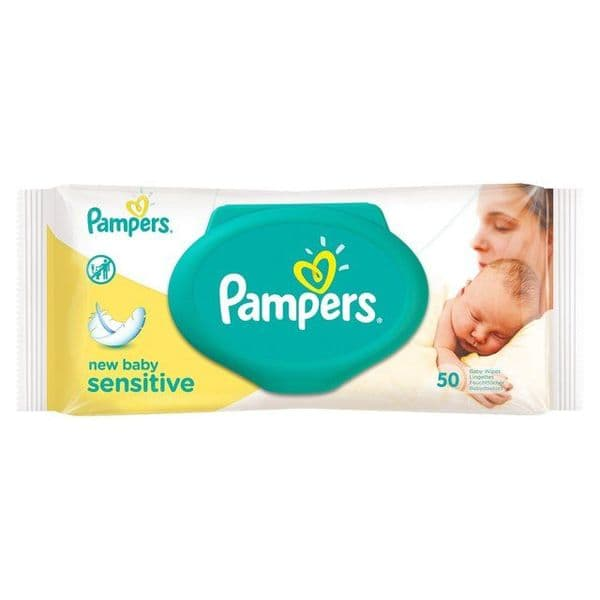 Pampers New Baby Sensitive Wipes (50)
