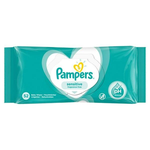 Pampers Sensitive Baby Wipes 52pk