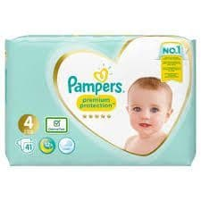 Pampers size 4 Nappies 41pk
