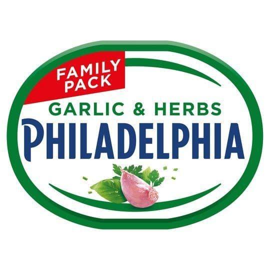Philadelphia Garlic & Herb Family Pack 340g