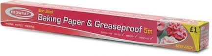 ProWrap Baking Greaseproof Paper 5m