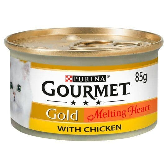 Purina Gourmet Gold Melting Heart with Chicken Cat Food 85g