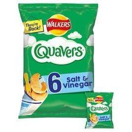 Quavers salt & vinegar 6pk