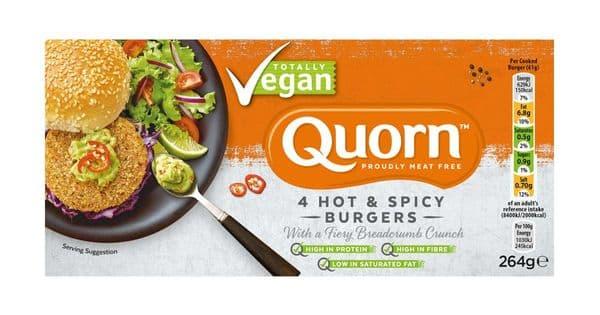 Quorn Vegan 4 Hot & Spicy Burgers 264g