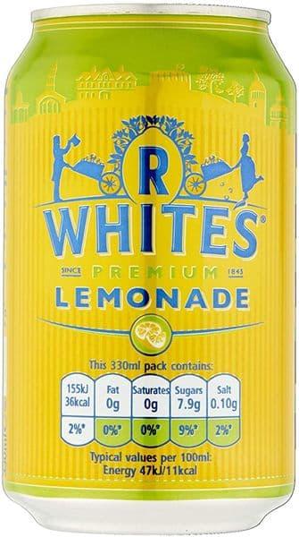 R Whites Lemonade 24x330ml