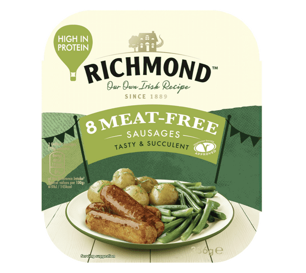Richmond 8 Meat free sausages 336g