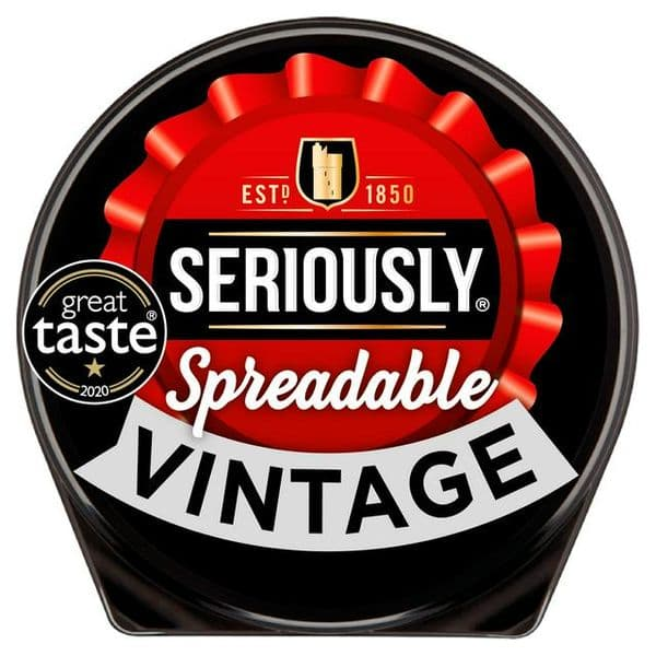 Seriously Strong Spreadable Vintage Cheese 125g