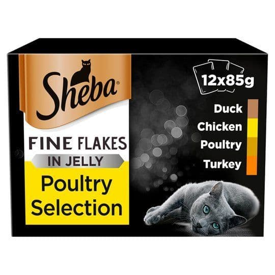 Sheba Fine flakes in jelly Poultry 12x85g