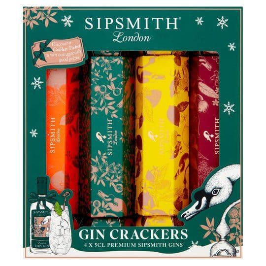 Sipsmith Gin Crackers 4x5cl