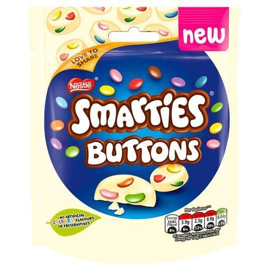 Smarties Buttons White 85g