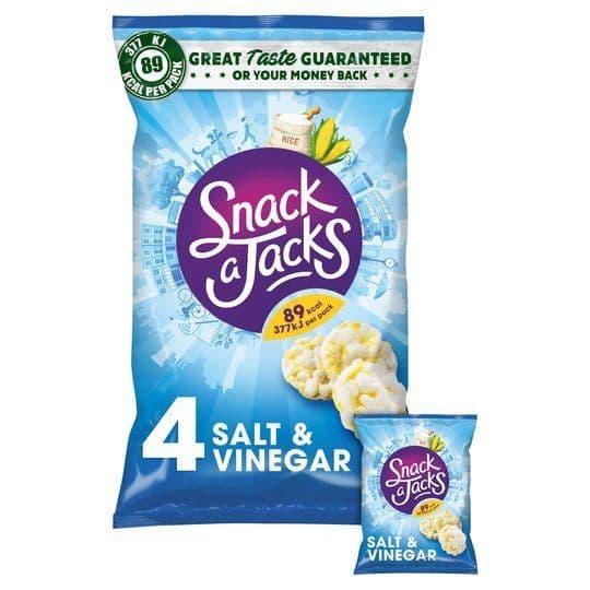 Snack a Jacks Salt & Vinegar 4pk 88g