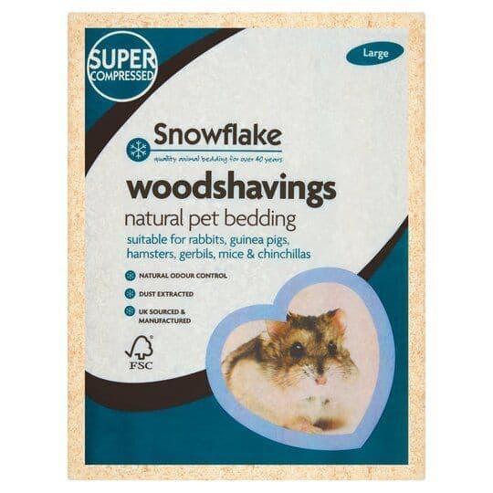 Snowflake Woodshavings Natural Pet Bedding Large