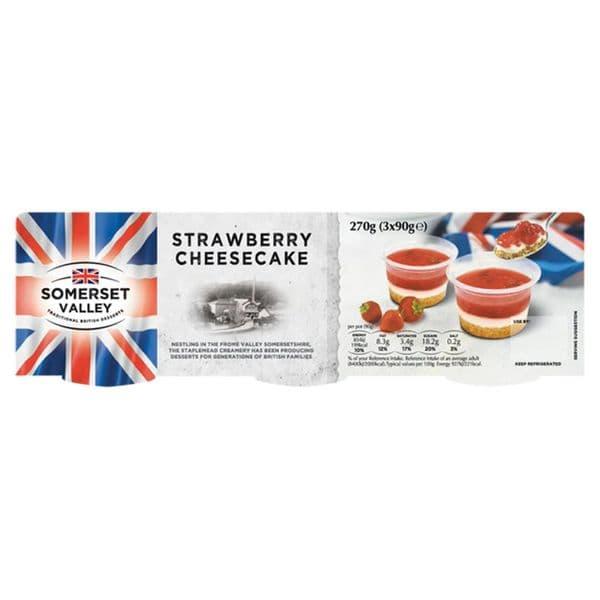 Somerset Valley Strawberry Cheesecake 3x90g