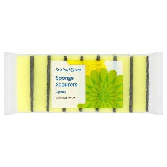 Springforce Sponge Scourers 8pk