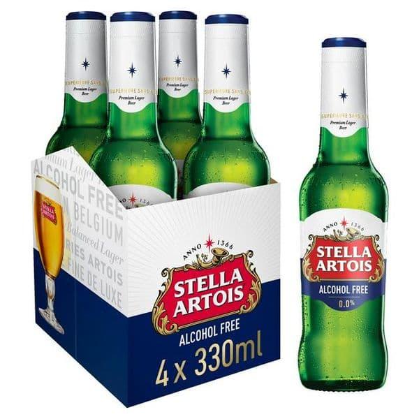 Stella Artois Alcohol Free 4x330ml