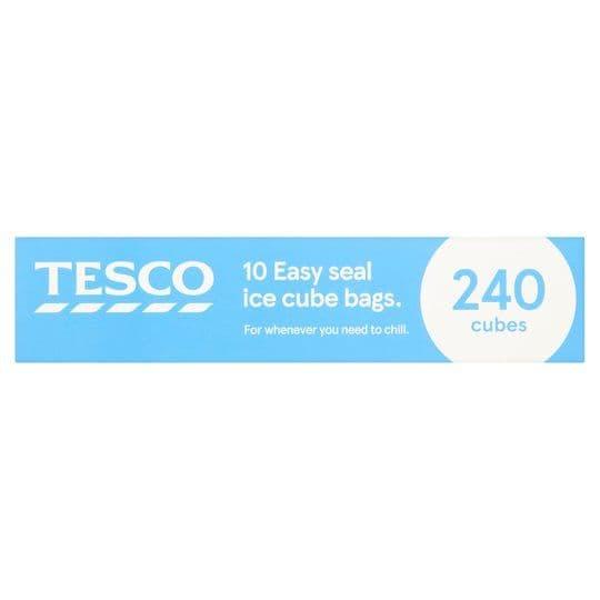 Tesco 10 Easy Seal Ice Cube Bags