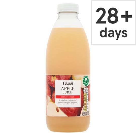 Tesco 100% Pressed Fresh Apple Juice 1L