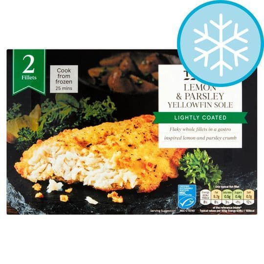 Tesco 2 Lemon & Parsley Yellowfin Sole 250g